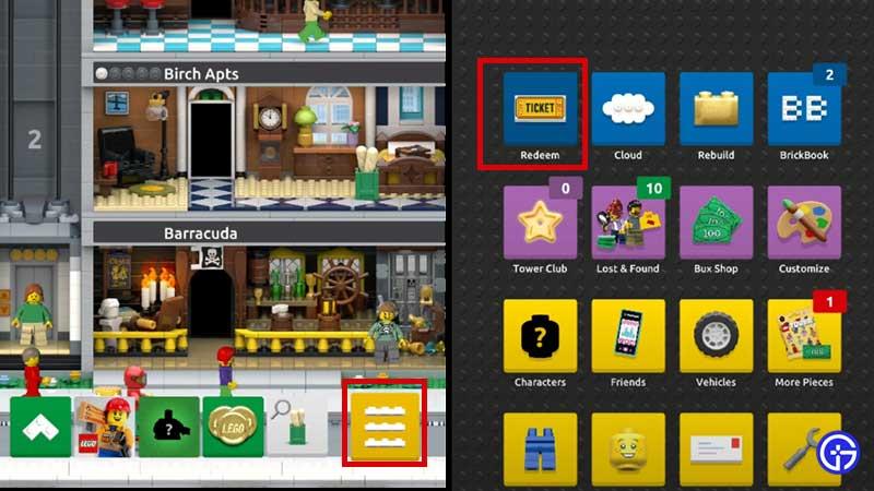 LEGO Tower Codes List