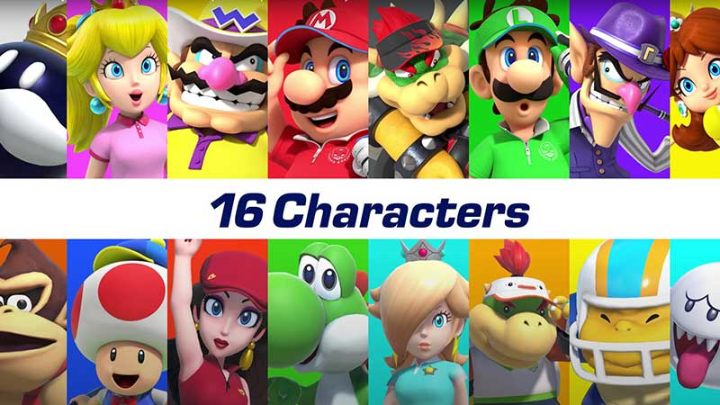 Mario Golf: Super Rush Characters Roster