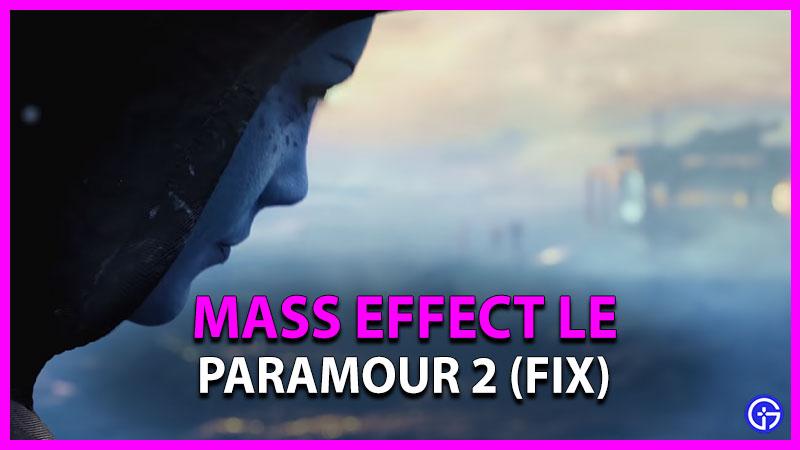 Mass Effect Legendary Edition Paramour 2 Achievement Not Working Fix