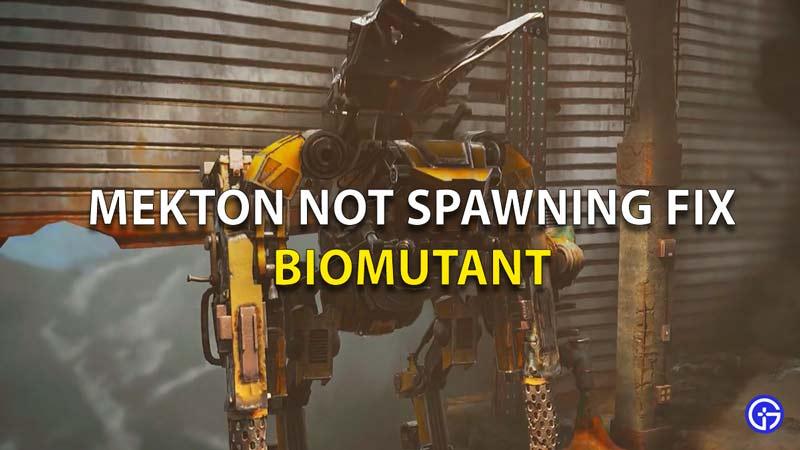 Mekton Not Spawning Fix