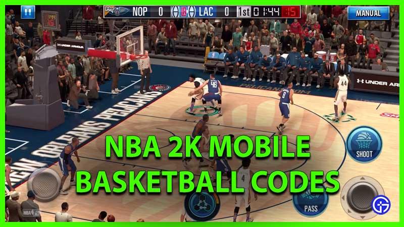 NBA 2k Mobile Basketball Codes