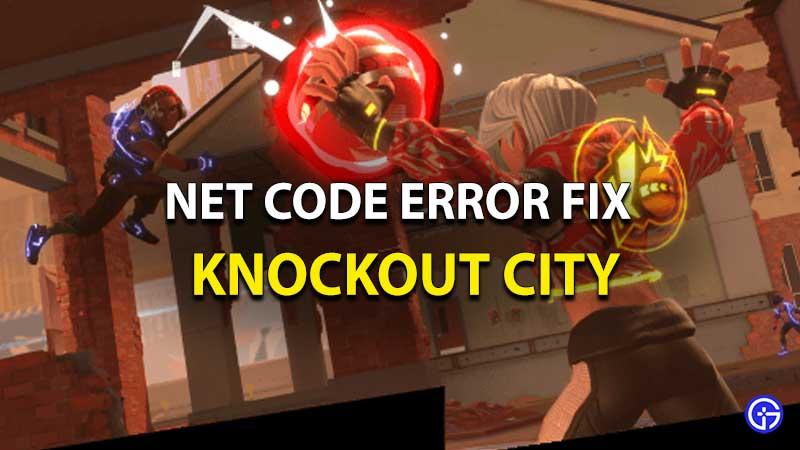 Net Code Error Fix