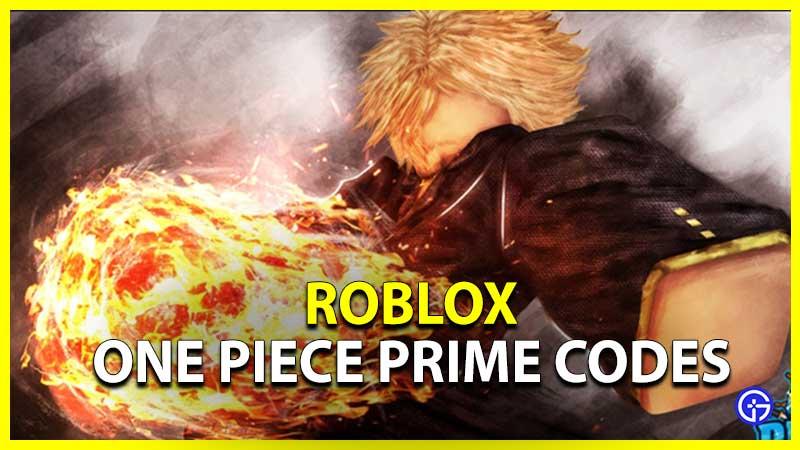 One Piece Prime Codes