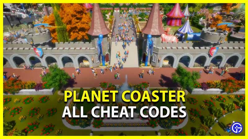 Planet Coaster Codes
