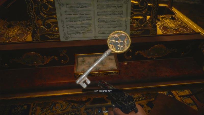 Resident Evil Village find get Insignia Key
