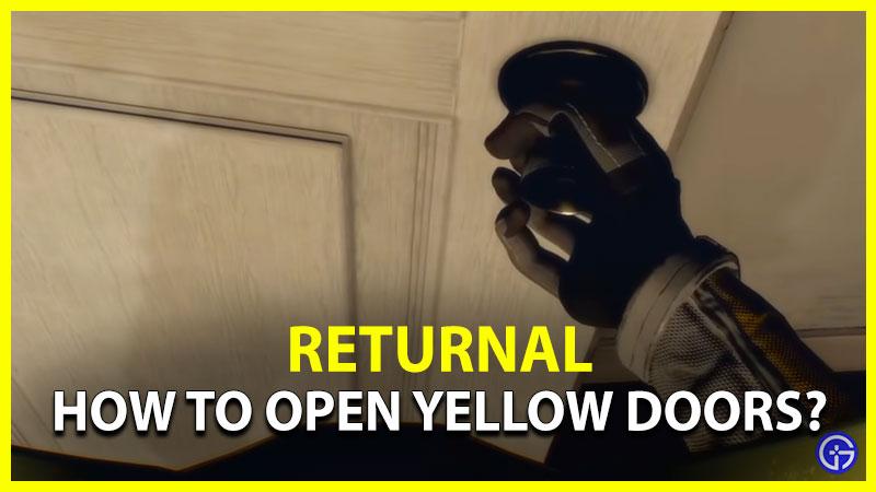 Returnal Yellow Doors Orange Barriers