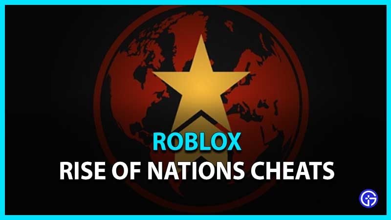 Rise Of Nations Cheats List