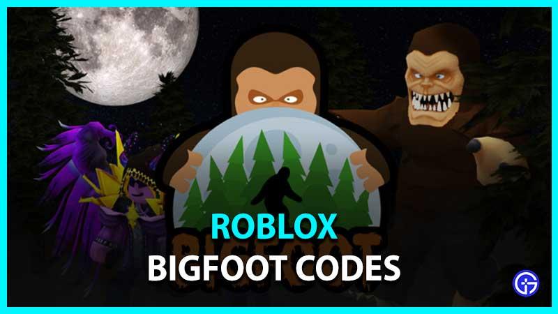 Roblox Bigfoot Codes List