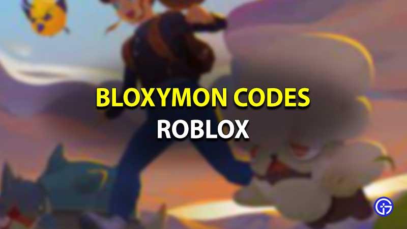 Roblox Bloxymon codes