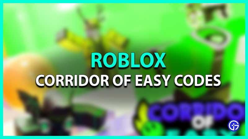 Roblox Corridor of Easy Codes list