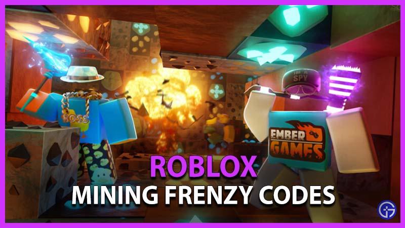 Roblox Mining Frenzy Codes