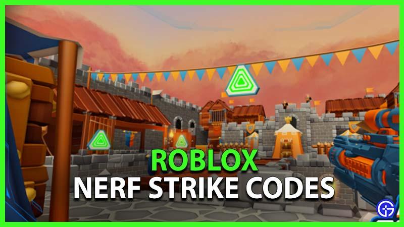 Roblox Nerf Strike Codes