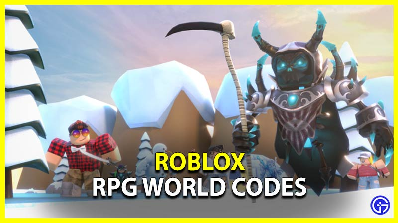 Roblox RPG World Codes