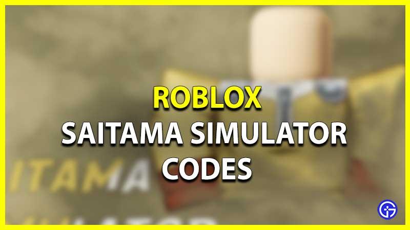 Roblox Saitama Simulator Codes