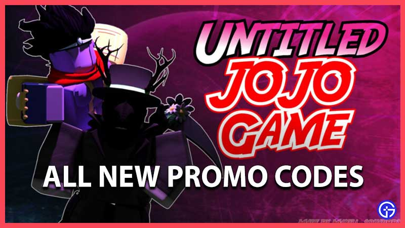 Roblox Untitled Jojo Game Codes