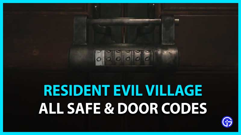 Safe Codes and Door Padlock Combination in Resident Evil Village