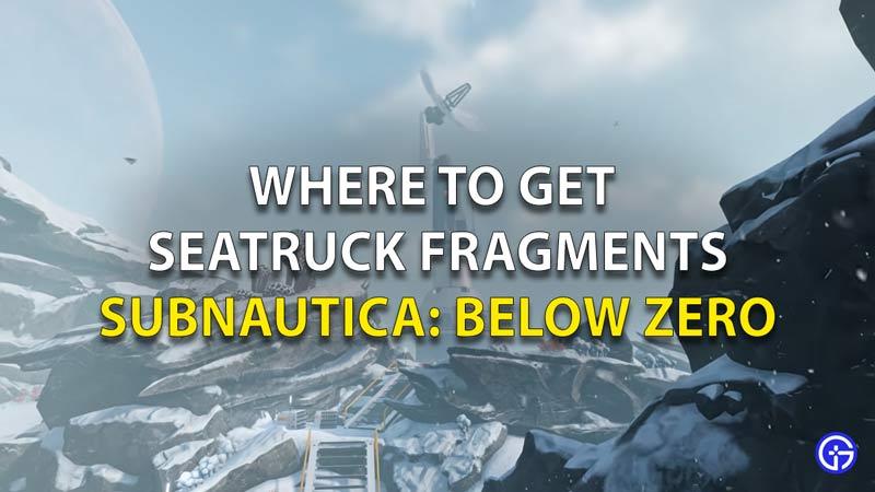 Seatruck Fragments In Subnautica Below Zero
