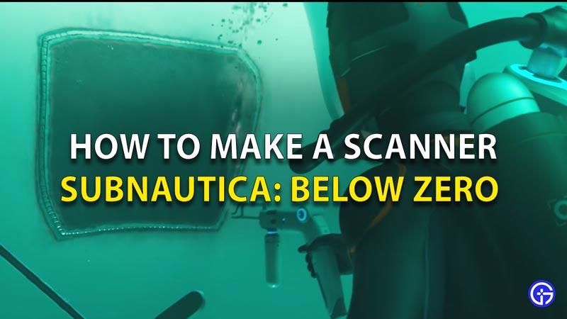 Subnautica Below Zero Scanner