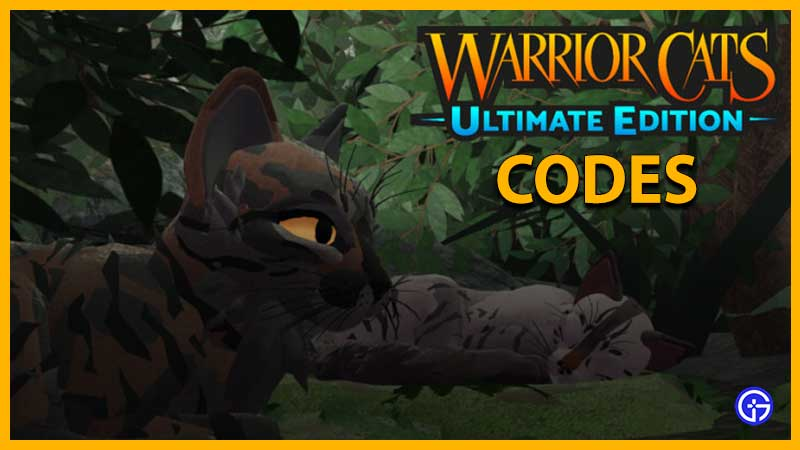 Warrior Cats Ultimate Edition codes