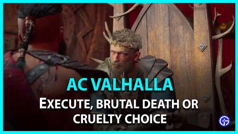 AC Valhalla Wrath Of The Druids Thorstein Choice