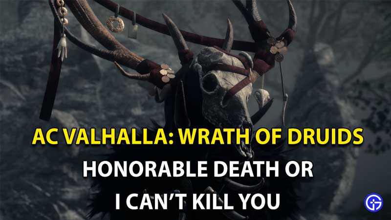 Honorable Death Or I Can't Kill You Option Assassin's Creed Valhalla