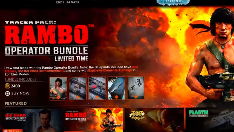 How To Get The Rambo Warzone Bundle