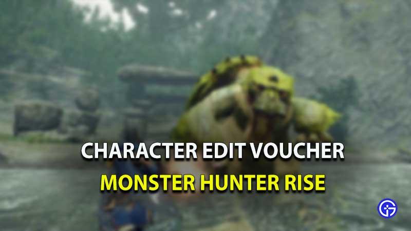 MHR character edit voucher