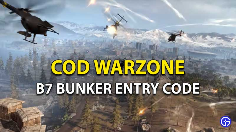 Call Of Duty Warzone B7 Boneyard Bunker Code: How To Open