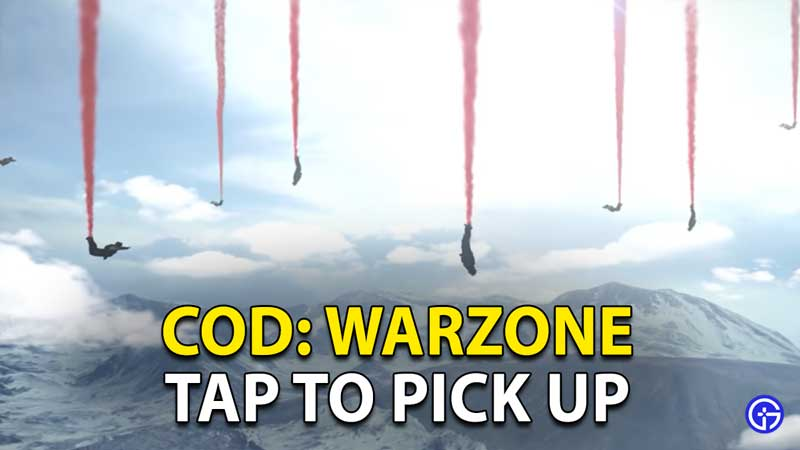Call Of Duty Warzone: How To Tap To Pick Up Items