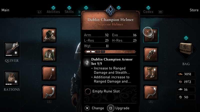 AC Valhalla: Wrath of the Druids Dublin Champion Armor Set