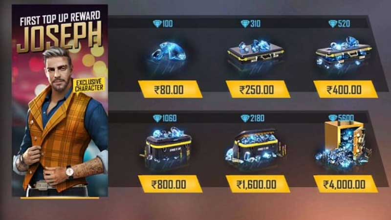 Free Fire: How To Top Up Diamonds