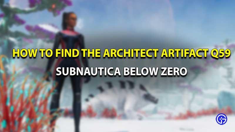 Subnautica Below Zero Architect artifact