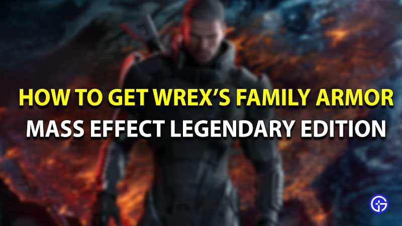 Mass effect legendary edition wrex family armor