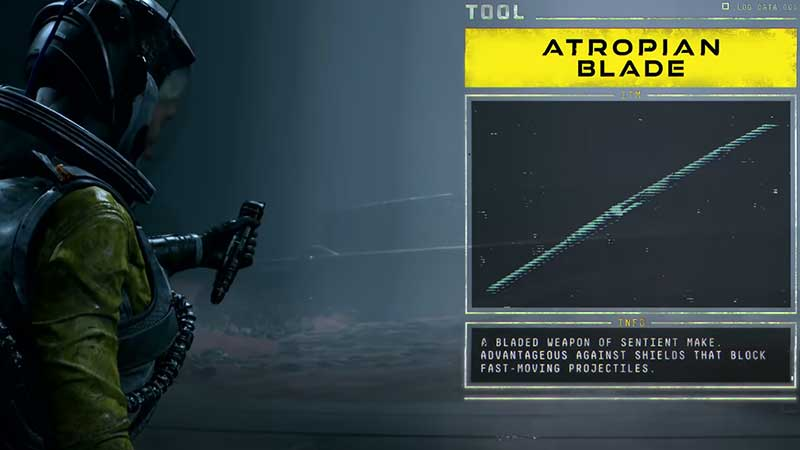 atropian blade melee attack weapon in Returnal