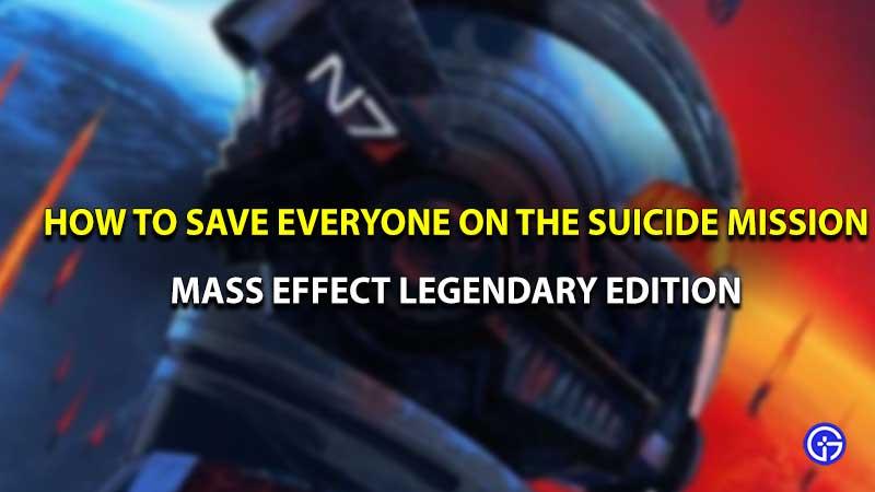 Mass effect legendary edition suicide mission