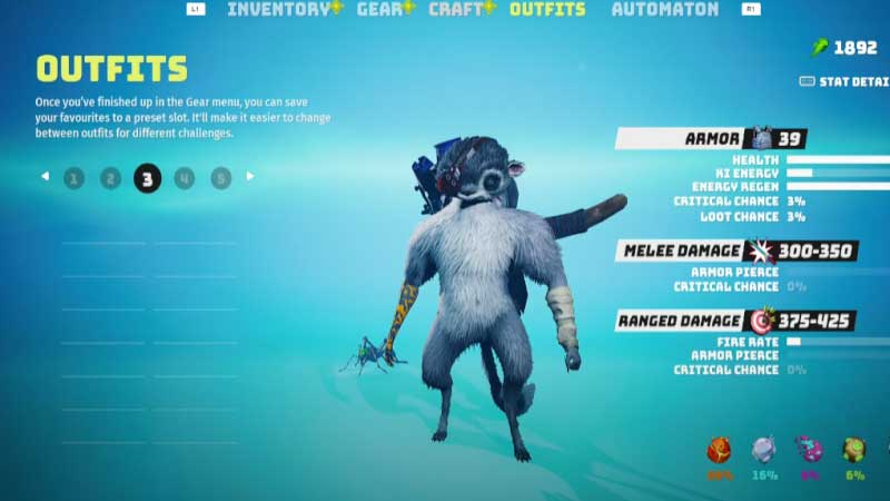 Biomutant save outfit