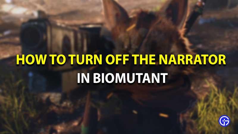 Biomutant narrator