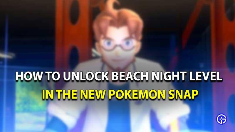 Pokemon Snap beach night
