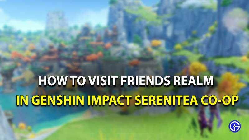 Genshin Impact serenitea visit friends