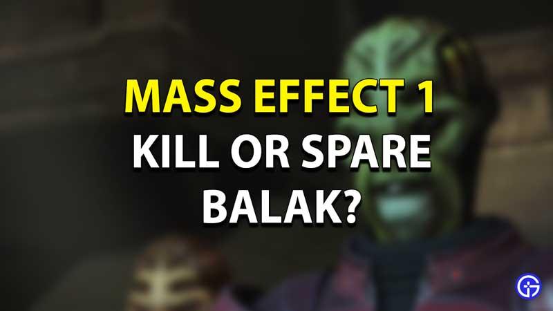 Mass Effect 1 Balak Multiple Choice