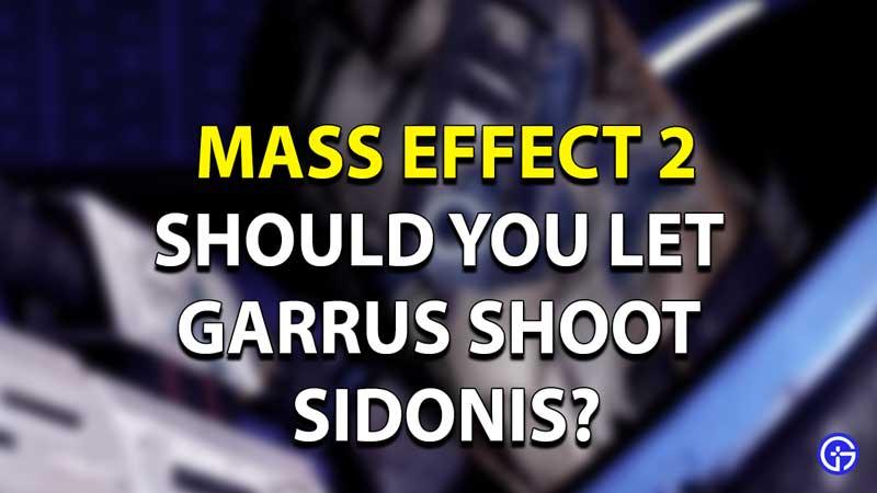 Mass Effect 2 Garrus Sidonis Mission