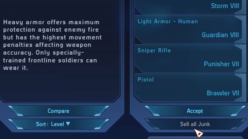 How To Mark Items As Junk In Mass Effect Legendary Edition