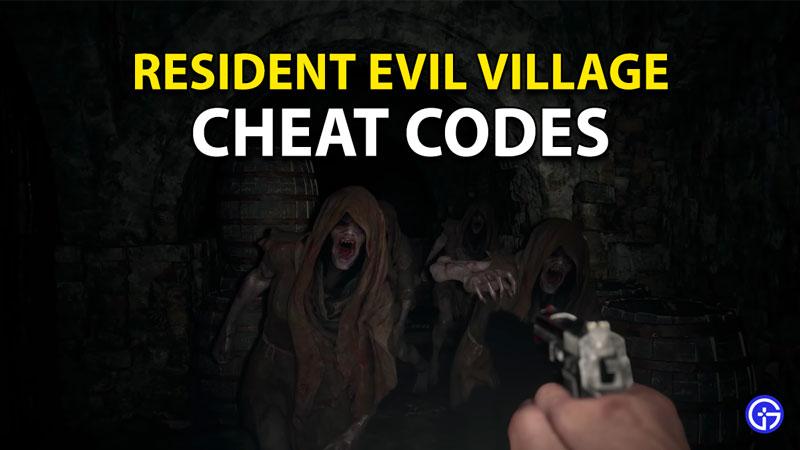 Resident Evil 8 Village Cheat Codes