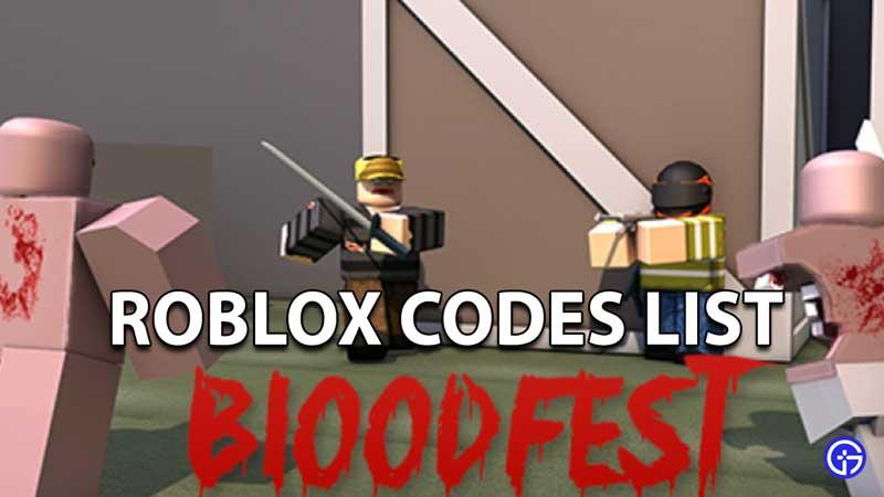 Redeem Roblox Bloodfest Codes