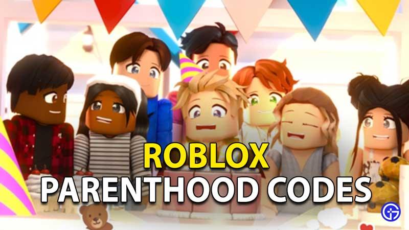 Redeem Roblox Parenthood Codes