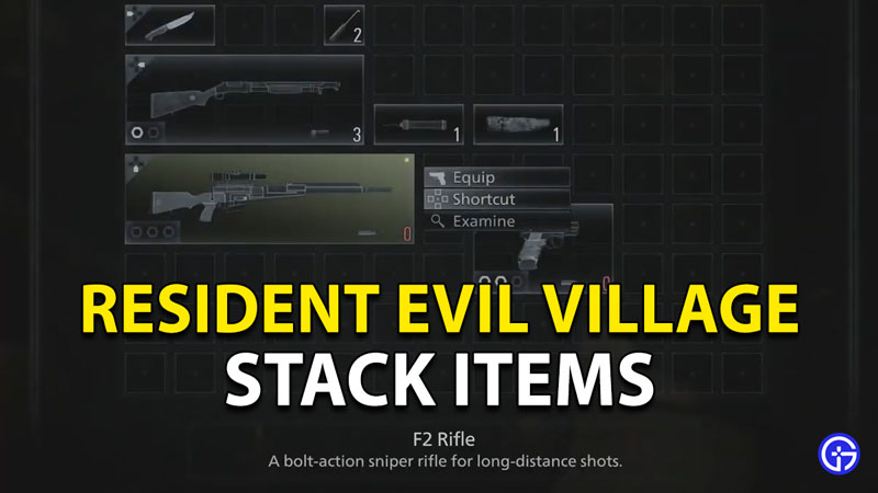 How To Stack Items In Resident Evil 8 Village