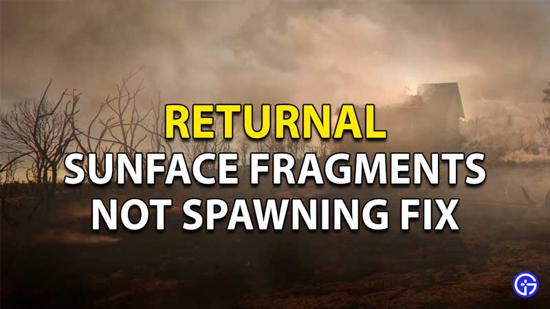How To Fix Returnal Sunface Fragments Not Spawning