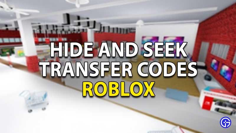 Redeem Roblox Hide and Seek Transform Codes