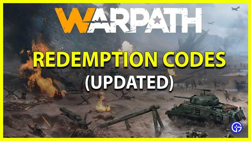 Warpath Codes Redemption