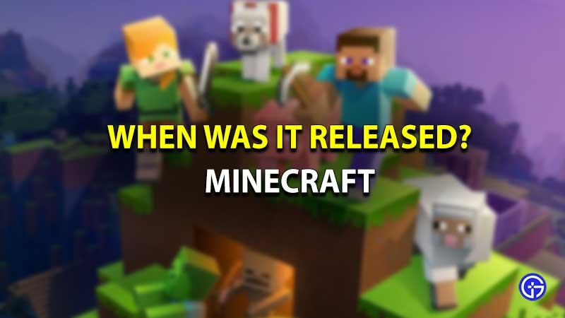 Minecraft released birthday